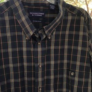 Plaid Wrinkle Free Button Down